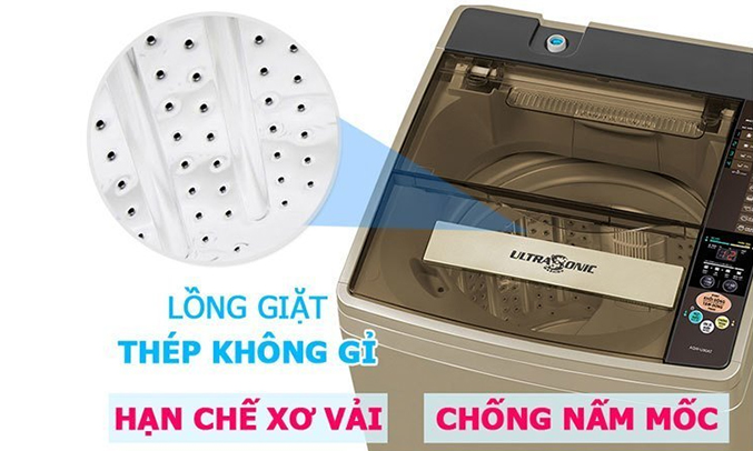 Máy giặt Aqua AQWW-D901AT (N) lồng giặt thép