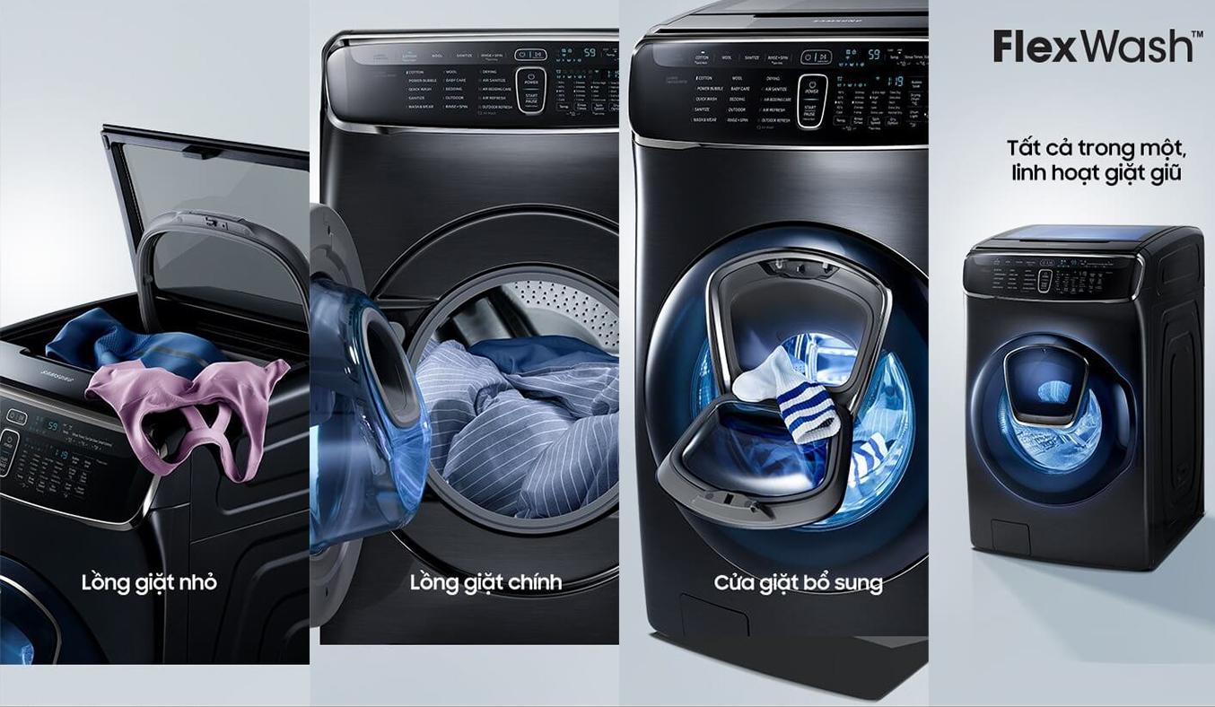 Máy giặt Samsung 21kg WR24M9960KV/SV 2 trong 1