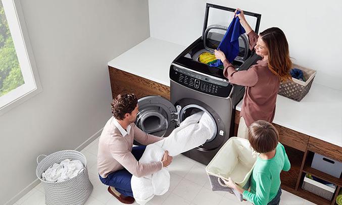 Máy giặt Samsung 21kg WR24M9960KV/SV hoạt đông êm ái