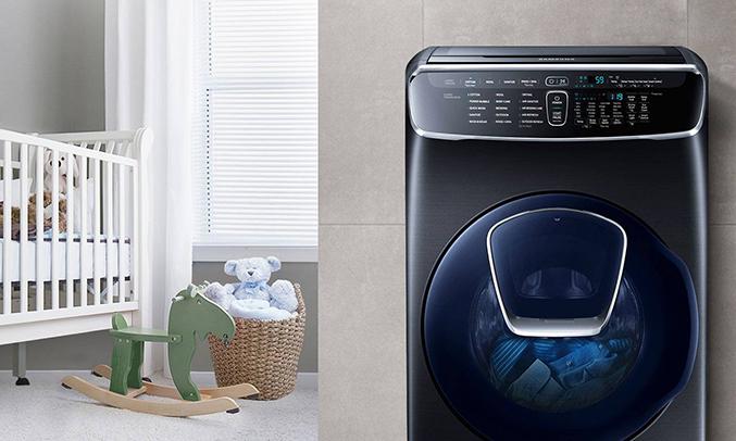 Máy giặt Samsung 21kg WR24M9960KV/SV khử mùi diệt khuẩn