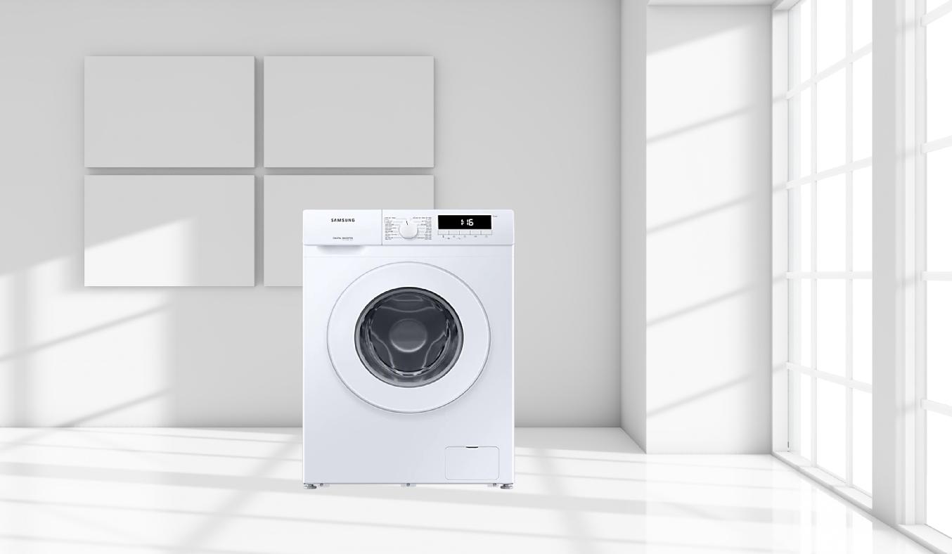 Máy giặt Samsung Inverter 8 Kg WW80T3020WW/SV - Thiết kê tinh tế, trang nhã, mang đến sự hiện đại cho không gian
