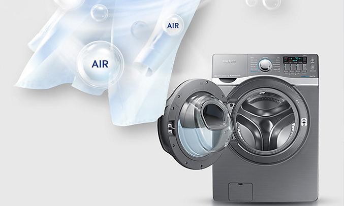 Máygiặt sấy Samsung 17kg WD17J7825KP khử trùng quần áo