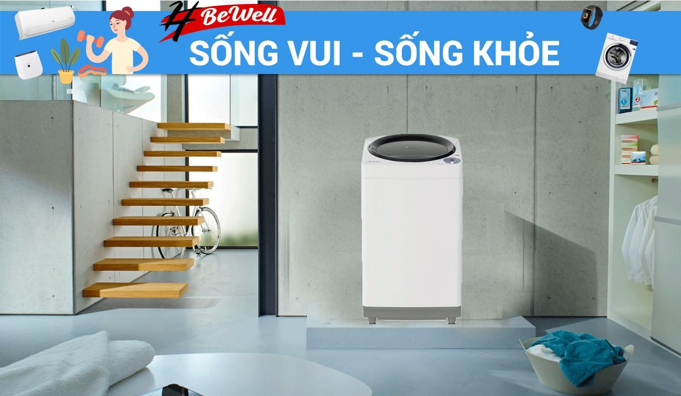 Máy giặt Sharp 7.8 kg ES-W78GV-G - Máy giặt Sharp kiểu dáng thanh lịch, sang trọng