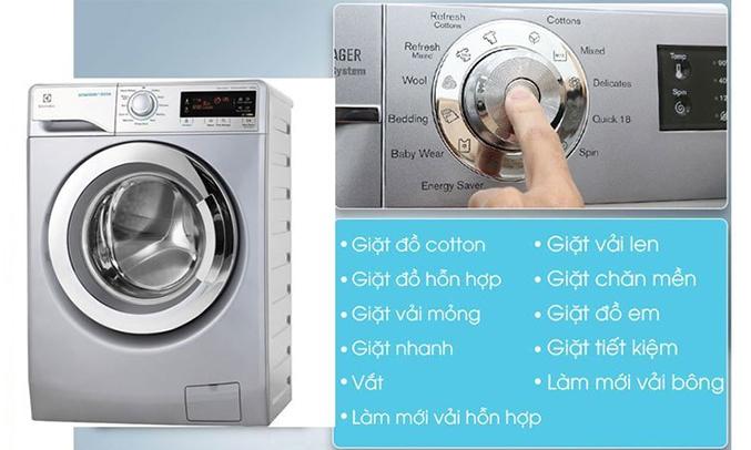 Máy giặt Electrolux EWF12935S nhiều chương trình giặt