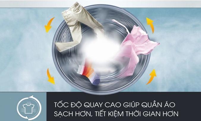 Máy giặt Electrolux EWF12935S mau khô quầ áo