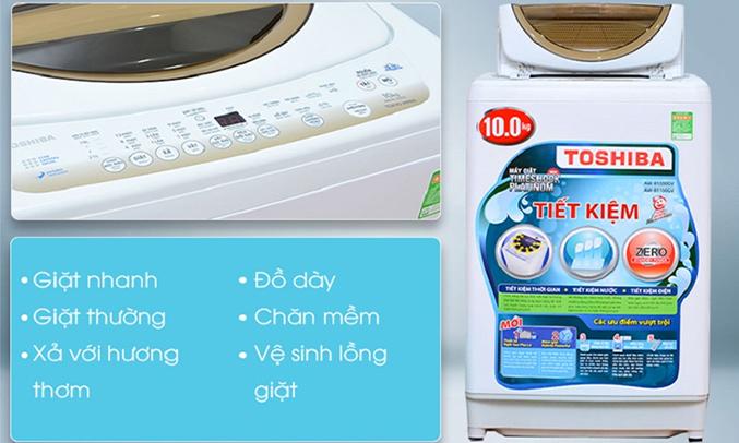 Máy giặt Toshiba AW-B1100GV(WD) 10 kg 8 chương trình giặt