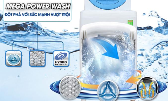 Máy giặt Toshiba AW-G920LV (WB) công nghệ Mega Power