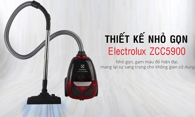 Máy hút bụi Electrolux ZCC5900 có thiết kế nhỏ gọn, màu sắc sang trọng
