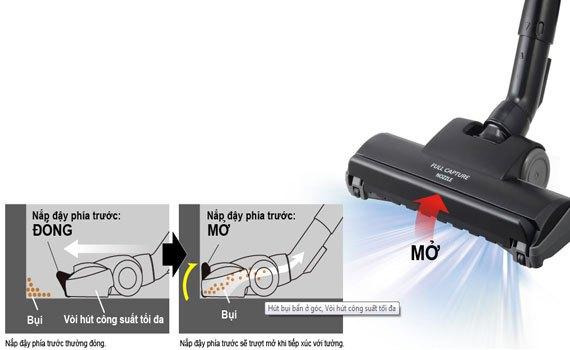 Hút bụi Panasonic MC-CG371AN46 bề mặt trang nhã với thiết kế mặt cắt