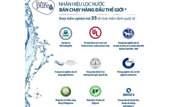 Máy lọc nước Unilever Pureit Excella 9L đạt chuẩn Cục Bảo Vệ Môi Trường Mỹ