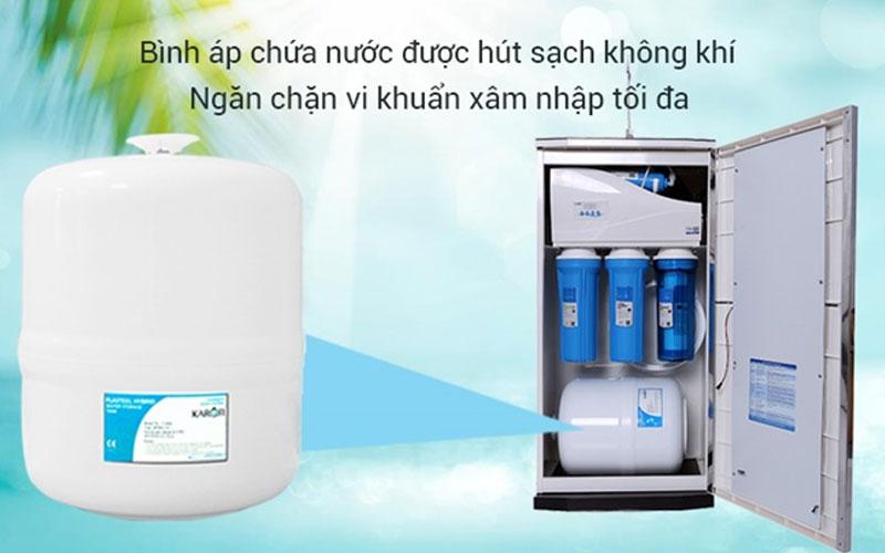 Bình trữ nước kín giúp ngăn ngừa mọi khả năng xâm nhập từ các tác động bên ngoài