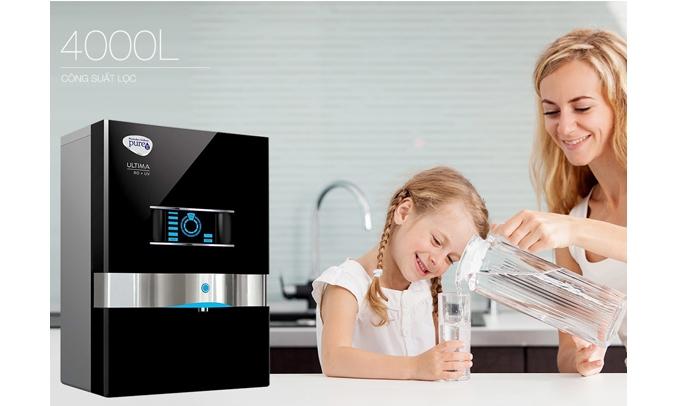 Máy lọc nước Unilever Pureit Mineral RO+UV công suất lọc lớn