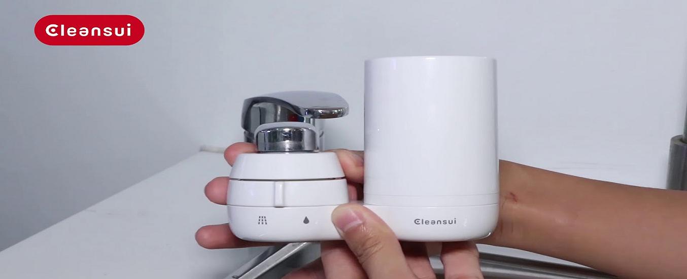 Thiết bị lọc nước tại vòi Cleansui EF401 - Thiết kế nhỏ gọn, tiện lợi, mang lại nguồn nước sạch cho gia đình bạn