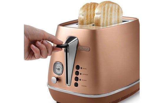 Máy nướng bánh mì Delonghi CTI2103.CP có 2 ngăn nướng