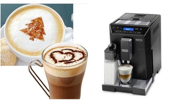 Máy làm cà phê Delonghi ECAM44.660.B tự động pha chế thông minh