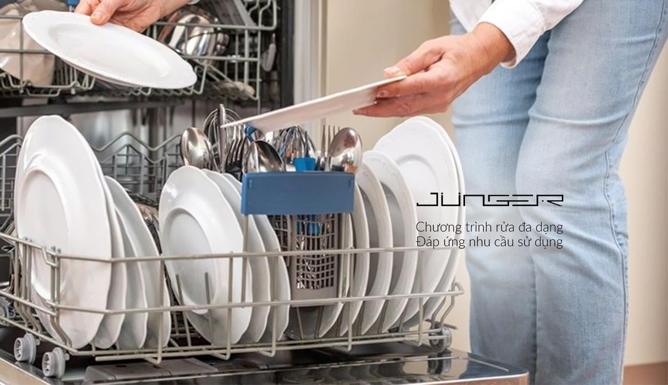 Máy rửa chén Junger DWJ-101 - Chương trình rửa đa dạng, đáp ứng mọi như cầu sử dụng