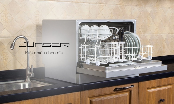 Máy rửa chén Junger DWJ-101 - Rửa nhiều chén đĩa