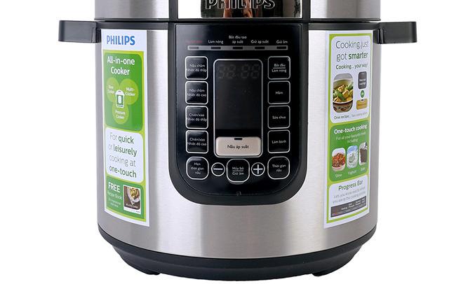Nồi áp suất điện Philips 6 lít HD2137/65 nấu được nhiều món ngon