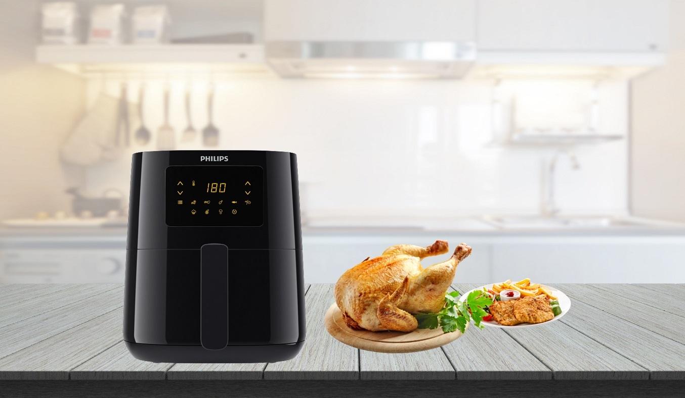 Nồi chiên không dầu Philips 4.1 lít HD9252/90 - công nghệ Rapid Air