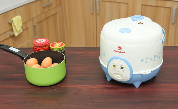 nồi cơm điện Happy Cook HC-120 1.2 lít có xửng hấp