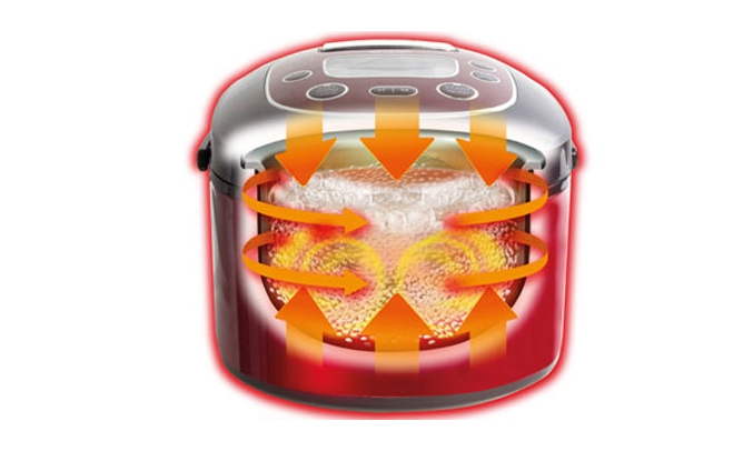 Nồi cơm điện Sharp KS-TH18 RD công nghê nhiệt 3D