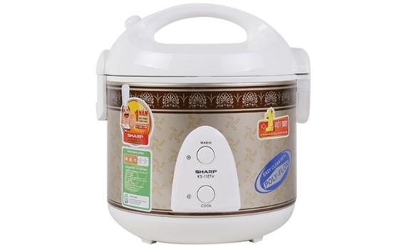 Nồi cơm điện Sharp KS-11ETV nhỏ gọn hiệu quả trong việc nấu cơm giá rẻ tại nguyenkim.com