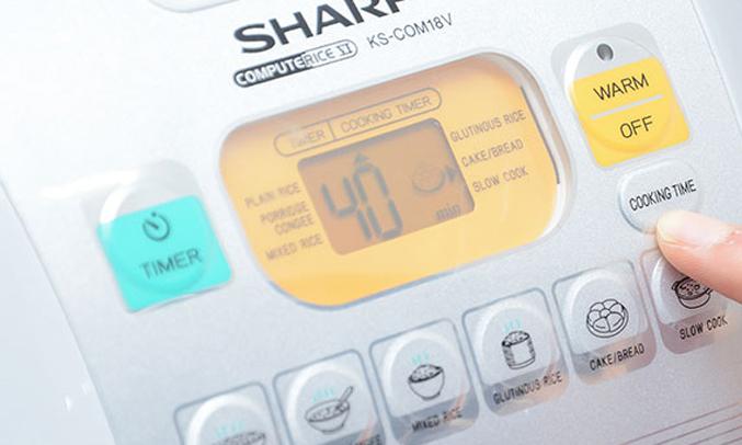 Nồi cơm điện Sharp KS-COM18V 1.8 lít nấu cơm ngon hơn