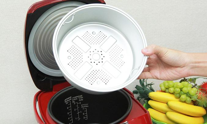 Nồi cơm điện Hitachi RZ-DMD18Y tiện dụng 14 chương trình nấu