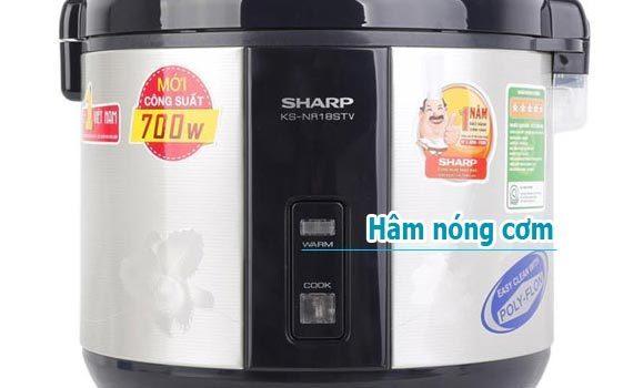 Nồi cơm điện Sharp KS-NR18STV 1.8 lít có chức năng hâm nóng