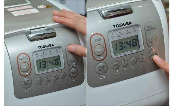 Nồi cơm điện Toshiba RC-18NMFVN(WT) điều khiển điện tử thông minh