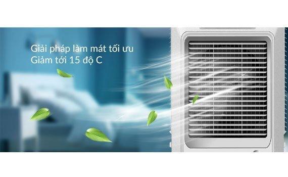 Quạt điều hòa Sunhouse SHD7756 giảm nhiệt độ phòng xuống 15 độ C