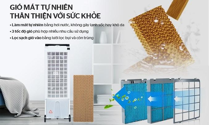 Quạt làm mát không khí Sunhouse SHD7719 thiết kế hiện đại