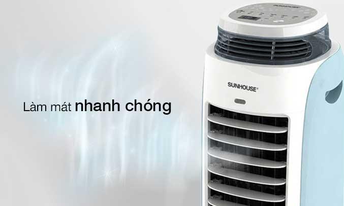 Máy làm mát không khí Sunhouse SHD7718 có động cơ vận hành êm ái