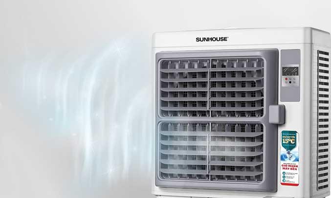 Máy làm mát không khí Sunhouse SHD7773 có động cơ vận hành êm ái