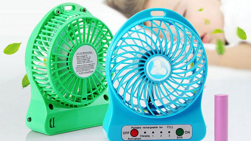 Quạt sạc sử dụng được kể cả khi cúp điện