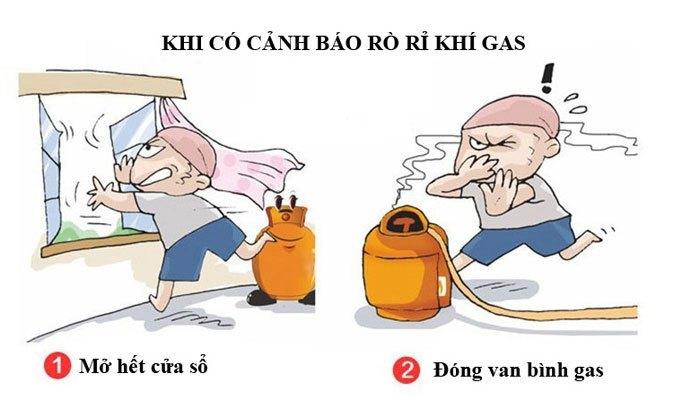 Tránh cháy nổ gas