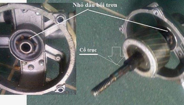 Quạt máy bị khô dầu là một trong những nguyên nhân khiến quạt quay yếu