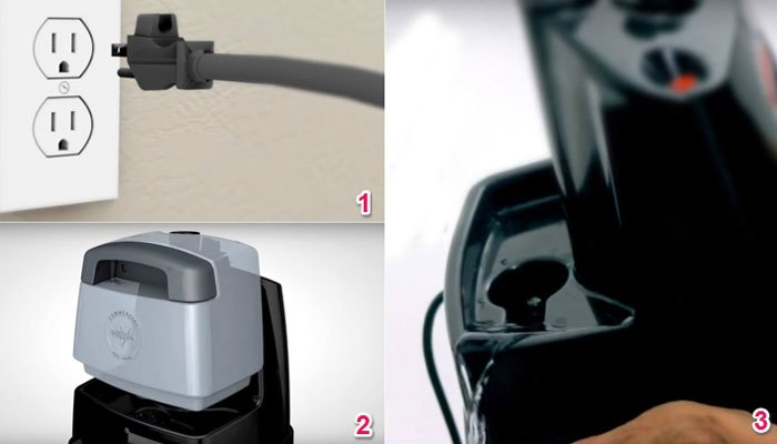 Rút điện bàn ủi hơi nước đứng