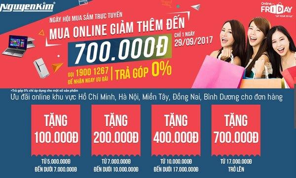 Mua sắm online với ưu đãi giảm đến 700.000 VNĐ, chỉ duy nhất 1 ngày đừng bỏ lỡ bạn nhé!