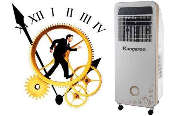 Chức năng hẹn giờ hiện đại trên quạt hơi nước Kangaroo KG50F16 lên đến 12 tiếng