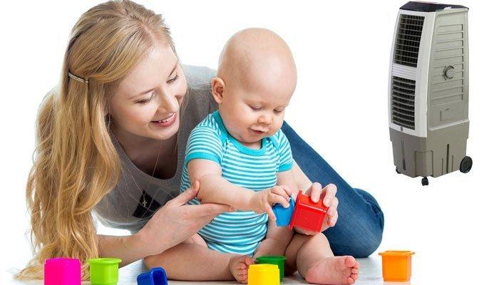 Nhà có trẻ em nên chọn quạt điều hòa có khả năng tạo ion