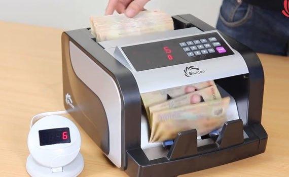Máy đếm tiền Silicon MC-3600 đếm được tiền giấy, polime và ngoại tệ