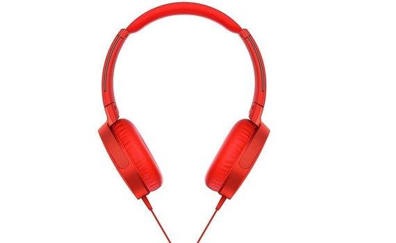 Tai nghe Sony MDRXB550APRCE màu đỏ thiết kế tinh tế, gọn gàng