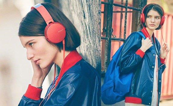 Tai nghe Sony MDRXB550APRCE màu đỏ đệm tai vừa vặn, êm ái