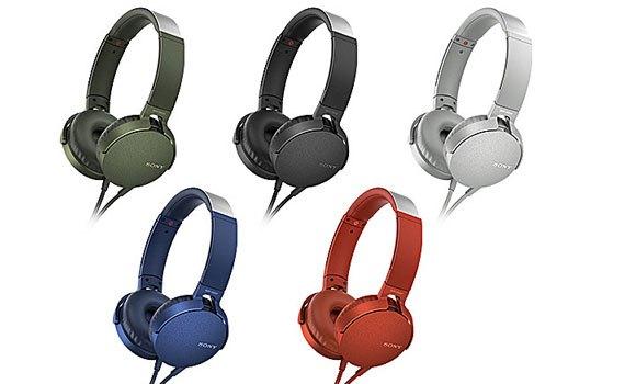 Tai nghe Sony MDRXB550APWCE màu trắng thiết kế tinh tế, gọn gàng