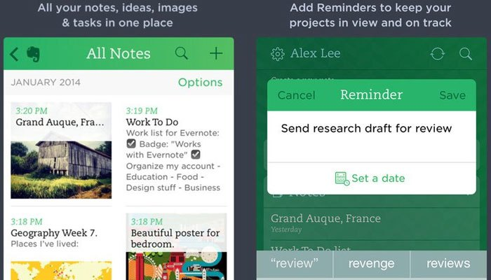 Evernote giúp bạn đánh dấu mọi thứ và sắp xếp chúng trong một trật tự nhất định trên iPhone