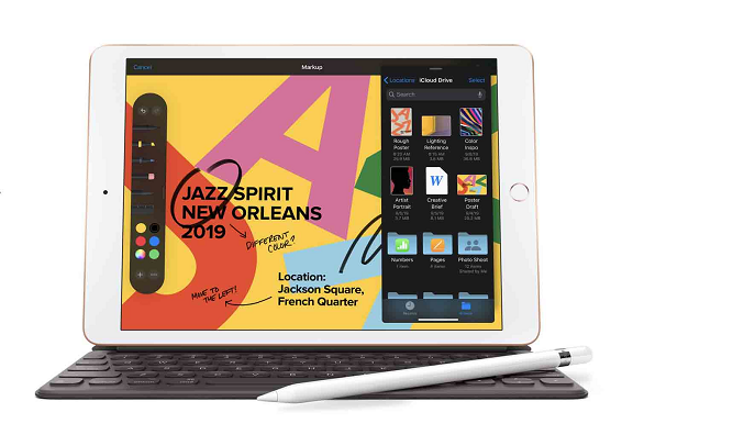 Máy tính bảng iPad 10.2 inch Wifi 32GB MYLA2ZA/A Bạc (2020) - Hỗ trợ bút Apple Pencil và Smart Keyboard