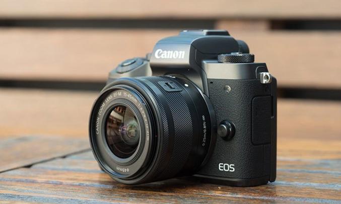 Máy ảnh Canon EOS M5 KIT 15-45MM có ống kính rời