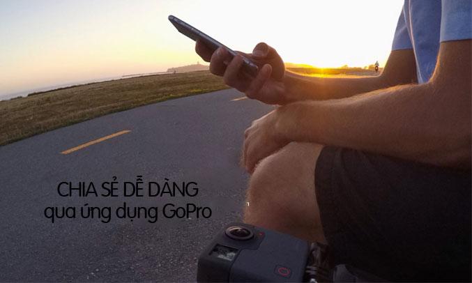Máy quay GoPro Fusion có khả năng kết nối Wifi