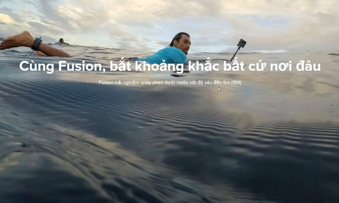 Máy quay GoPro Fusion chống nước ở độ sâu 5m
